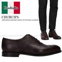 CHURCH'S DIPLOMAT OXFORD SHOES IN NEVADA LEATHER