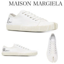 MAISON MARGIELA TABI PAINT DROP CANVAS SNEAKERS