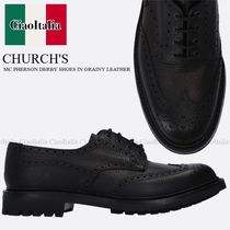 CHURCH'S MC PHERSON DERBY SHOES IN GRAINY LEATHER