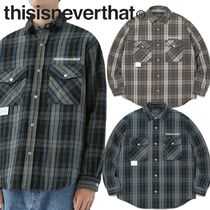 ★thisisneverthat★Quilted Flannel Shirt 2色