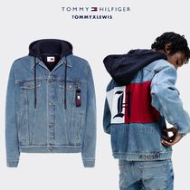 【TOMMY  HAMILTON】UNISEX OVERSIZED HOODED DENIM JACKET