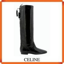 CELINE LEATHER LONG BOOTS