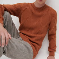 "RESERVED(リザーブド) ニット・セーター ""RESERVED MEN"" RIBBED ARAN KNIT TERRACOTTA"