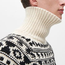 "RESERVED(リザーブド) ニット・セーター ""RESERVED MEN"" RIBBED NECK NORDIC SWEATER IVORY"