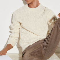 "sandro(サンドロ) ニット・セーター ""sandro homme"" Wide cable knit sweater White"