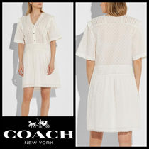 【Coach】SALE!!Broderie Anglaise☆爽やかコットンミニドレス☆
