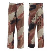 関税込OffWhite 2020FW CAMO RELAXED TAPERED PANTS パンツ ロゴ