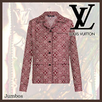 【LOUIS VUITTON】 シルク ロング スリーブ パジャマ トップス