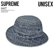 [国内即発] SUPREME JACQUARD LOGOS DENIM CRUSHER 青 即納