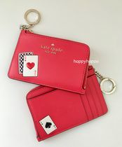 【kate spade】lucky draw medium l-zip card holder