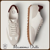 MassimoDutti♪LEATHER TRAINERS WITH CONTRAST TRIMS