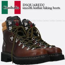 DSQUARED2  smooth leather hiking boots