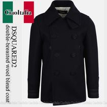 DSQUARED2  double-breasted wool blend coat