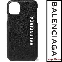 【国内発送】Balenciaga iPhone11ケース Logo FullGrain Leather