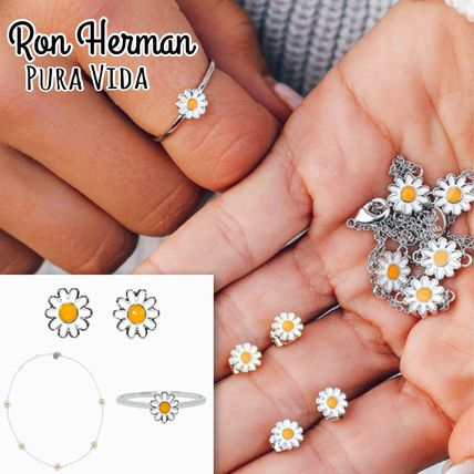 Ron Herman Pura Vida デイジーflower Necklace ring piercedset