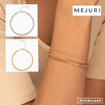 送料追跡込【MEJURI】18K加工&925 Double Curb Chain Bracelet