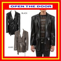 [OPEN THE DOOR] python leather jacket (2 color) ◆ 追跡付
