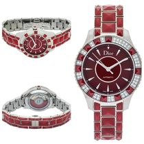 【レア★日本完売】Dior Christal Diamond Red Automatic