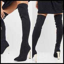 ASOS Simmi London Liane over the knee boots with gold heel