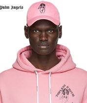 ☆PALM ANGELS Pink Embroidered Graphic Cap 国内発送 正規品!