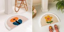 【RAINBOW HOUSE】flower Versatile foot mat