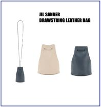 [JIL SANDER] DRAWSTRING LEATHER BAG (送料関税込み)