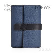 LOEWE★ロエベ Small vertical wallet in soft grained calfskin