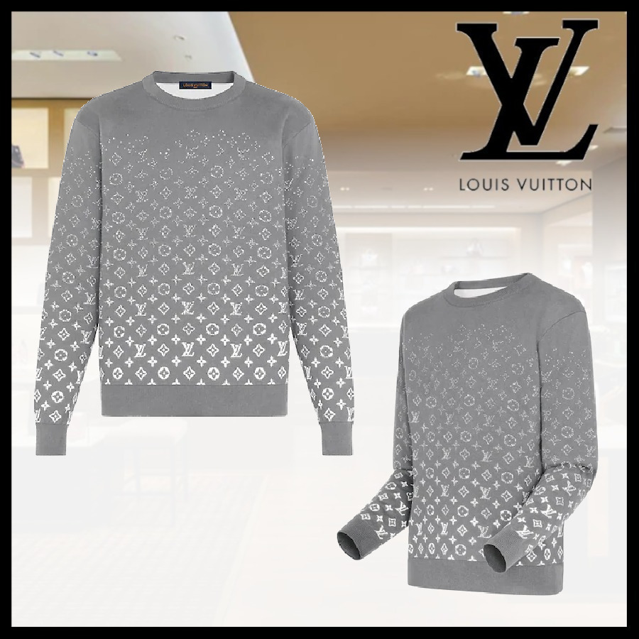 【LOUIS VUITTON】グラディエントモノグラムクルーネック メンズ (Louis Vuitton/ニット・セーター) 1A8FHQ  1A8FHR  1A8FHS