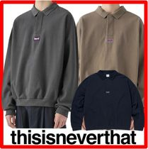 人気☆thisisneverthat☆thisisneverthat☆3 Button L/SL Pol.o