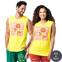 Spread Zumba Love Muscle Tank Mell-Oh Yellow ユニセックス