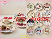 Twelve Days of Christmas Menagerie Dessert Plate 4枚SET