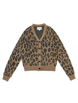 [ KIRSH ] FITTED CARDIGAN JA [LEOPARD]