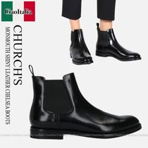 Church's(チャーチ) ショートブーツ・ブーティ CHURCH'S  MONMOUTH SHINY LEATHER CHELSEA BOOTS