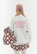 [ KIRSH ] 起毛 KIRSH GIRL MELANGE SWEATSHIRT JA [CREAM]
