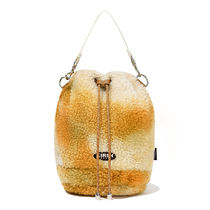 [ KIRSH ] FLEECE DRAWSTRING CROSS BAG JA [LIGHT BEIGE]