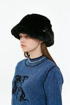 [ KIRSH ] FUR BUCKET HAT JA [BLACK]