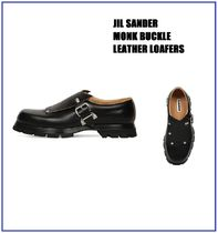 [JIL SANDER] MONK BUCKLE LEATHER LOAFERS (送料関税込み)