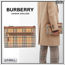 BURBERRY ヴィンテージチェック キャンバスポーチ 人気