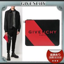 20AW/送料込≪GIVENCHY≫ PARIS ロゴ ラージ クラッチバッグ