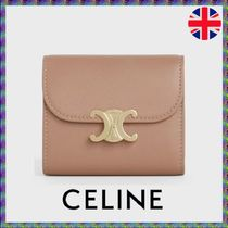 お得【CELINE】SMALL TRIOMPHE WALLET IN SHINY SMOOTH LAMBSKIN