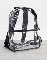 ASOS DESIGN mini backpack in clear plastic