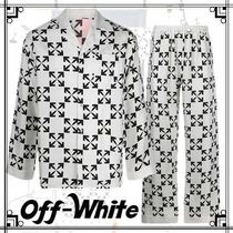 【Off-White】ロゴプリント シルクパジャマ ホワイト☆関税込み!