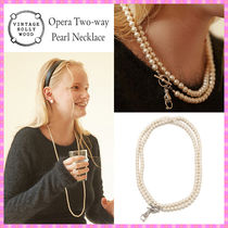 【VINTAGE HOLLYWOOD】Opera Two-way Pearl Necklace~ネックレス