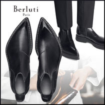 20Winter 送料込-Berluti- Hoxton Leather Boot JET BLACK
