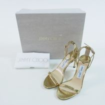 Jimmy Choo::Minny 85 Lizard柄サンダル:35.5[RESALE]