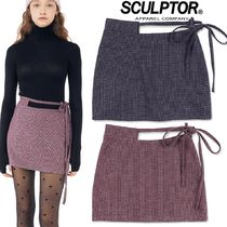 日本未入荷★SCULPTOR★Waist Cut Out Wool Skirt 2色
