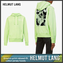 [Helmut Lang] Graphic-print relaxed-fit hoody 送料関税込
