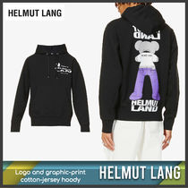 [Helmut Lang] Logo and graphic-print hoody 送料関税込