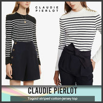 [Claudie Pierlot] Togold StripedCotton-jersey top 送料関税込