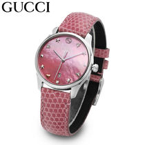 ★公式★ [ GUCCI ] G-Timeless Quartz 女性用 革 時計
